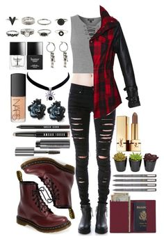"""fob - the kids aren't alright"" by bvb-army4life ❤ liked on Polyvore featuring Tripp, Topshop, Nasty Gal, Royce Leather, Dr. Martens, Bobbi Brown Cosmetics, Butter London, Yves Saint Laurent and NARS Cosmetics"