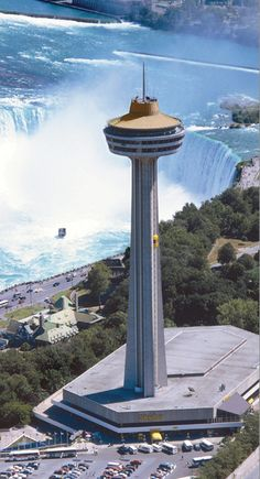 Skylon Tower, Niagara Falls Canada. Our first trip together while dating!