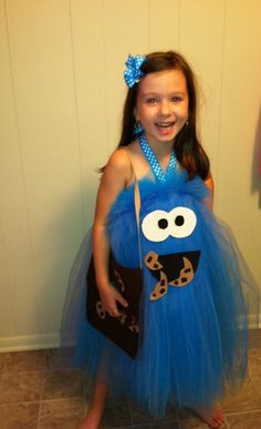 Cookie Monster Inspired Tutu Dress Costume for dress up or playtime or parades Monster Costumes, Tutu Costumes, Cool Costumes, Halloween Fun, Halloween Costumes, Halloween Clothes, Cookie Monster Party, Cookie Monster Costume Toddler, Funny Babies