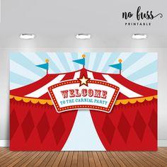 Telón de fondo de carnaval Banner de fiesta de circo