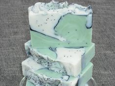 Green Tea  Poppy Seed  Activated Charcoal Soap / by JOANSGARDENS, $4.50