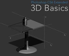 Photoshop 3D Basics – Combining Elements (primitive modeling)