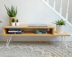 Bamboo TV unit - TV Stand - Mid-Century - Modern TV Unit - Side Table - Coffee Table - Minimalist Furniture - Boho Furniture - Hairpin Legs #tvstandsminimalist