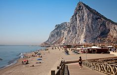 Gibraltar's Santa Barbara beach: The move by Spanish border authorities followed anger over a British decision to lay an artificial reef in the Bay of Gibraltar, which was fiercely opposed by Spanish fishermen