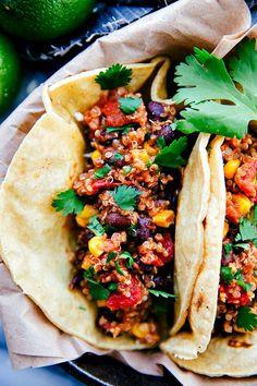 Healthy Quinoa Tacos made in the CROCKPOT