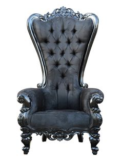 Elvira Throne Chair by Oh My Goth! at Gilt - Love the shape, with a little patina and different upholster this would be a fantastic chair for the boudoir.