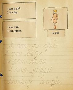 Six-Year-Old Shirley Temple's Scrapbook of Penmanship Lessons, 1935.