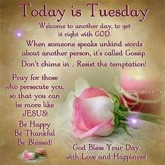 Image result for tuesday good morning sayings