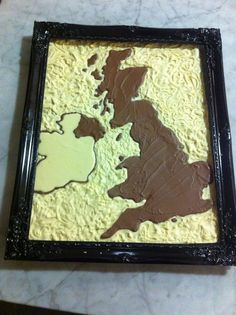 The Chocolate Map of Britain Map Of Britain, Chocolate Lovers, Chocolates, Create, How To Make, Decor, Decoration, Decorating, Schokolade
