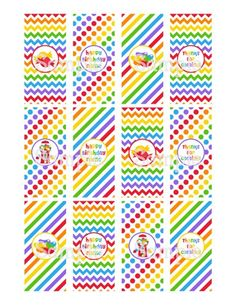 Printable Candy Shoppe Red Rainbow Mini Hersheys Candy Bar Wrappers | aMerAZNStyLe - Digital Art  on ArtFire