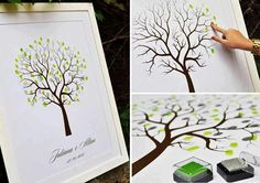 That would be awesome to do in addition to a guest book :) it's so cool I've never seen it before!
