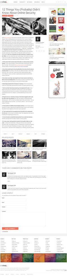 Creative Blog/Magazine Responsive WordPress Theme :ENPINE