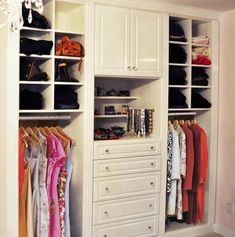 Kate Cullen, design consultant from California Closets Twin Cities, created a stunning example of a boutique walk-in closet organization with stylish design Walk In Closet Small, Walk In Closet Design, Closet Designs, Small Closets, California Closets, Closet Storage, Closet Organization, Closet Drawers, Cubby Storage