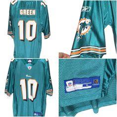 Trent Green #10 Miami Dolphins Reebok On Field Replica NFL Jersey Mens Large L…