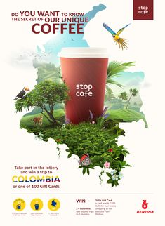 Client: StopCafe Work: Creation of Key Visual for Stop Cafe food poster Food Graphic Design, Food Poster Design, Creative Poster Design, Poster Design Inspiration, Ads Creative, Graphic Design Trends, Creative Posters, Graphic Design Posters, Web Design