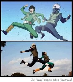 Anime or Real Life? Guy and Kakashi