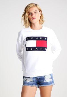 Hilfiger Denim TOMMY JEANS 90S - Sweatshirt - white - Zalando.se