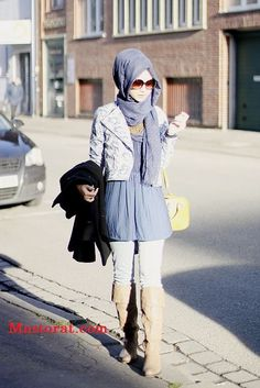 glasses Hijab styles for winter