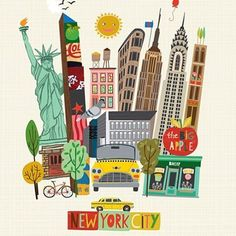 The Big  awaits. #travel #newyork #bigapple #carolyngavin #surtex2016 #lillarogersstudio  PS. This print is available in my Etsy Shop. Link in profile.