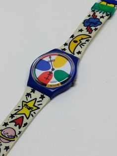 Vintage Swatch Watch Space People GN134 1993 by ThatIsSoFunny