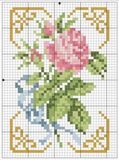 miniature needlework chart... no color chart available, just use pattern chart as your color guide.. or choose your own colors...