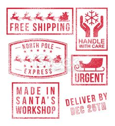 3777 north pole special delivery signs pinterest special north pole santas christmas rubber stamps lizenzfreie vektorillustrationen negle Choice Image