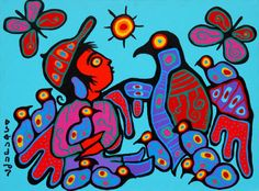 """Under Thunderbird's Protection"" by Norval Morriseau"