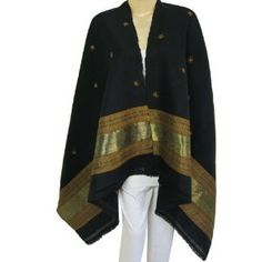 Wool Shawl Embroidered Accessory Size: 80 Inches x 40 Inches (Apparel)  http://www.amazon.com/dp/B007H4FZD4/?tag=iphonreplacem-20  B007H4FZD4
