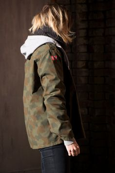 Authentic norwegian military jacket with norwegian flag on the shoulder. Size see photo for measurements. The model wearing the jacket is Military Jacket, Trending Outfits, Interior, Jackets, Inspiration, Etsy, Clothes, Vintage, Design