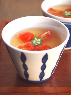 冷やし茶碗蒸し トマトあんかけ by えみさん / 夏野菜をたっぷり入れて、暑くて食欲がない時に、キンキンに冷やしてツルッと美味しい茶碗蒸しです! / ナディア