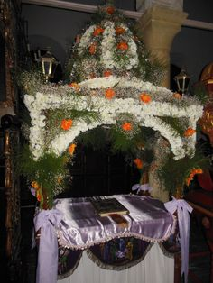 Epitaphios, Good Friday, Agios Giorgios, Andros, Greece Andros Greece, Orthodox Easter, Greek Easter, Christ Is Risen, Church Flowers, Orthodox Christianity, Welcome Spring, Holy Week, Orthodox Icons