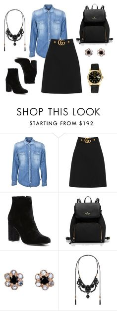 """""""Black and blue"""" by charlottes-styles on Polyvore featuring mode, Dolce&Gabbana, Gucci, Witchery, Arik Kastan en Rolex"""
