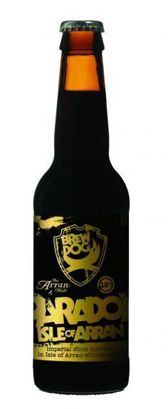 Paradox Arran:  ABV: 15%  Malts: Marris Otter, Dark Crystal, Caramalt, Chocolate Malt, Roast Barley  Hops: Galena, Bramling Cross  Twist: Aged in the finest Arran whisky casks