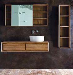 mobili bagno in legno massello lavandini pietra e marmo - www ... - Mobili Bagno Etnici