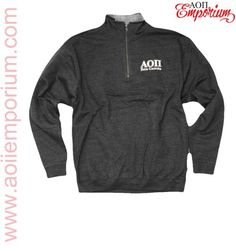 AOII Beta Gamma Cozy Charcoal Quarter Zip Perfection--start your custom order with us today!