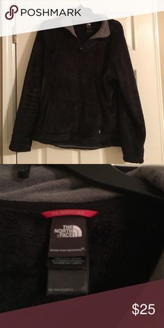 North face pull over Black very soft north face pull over with litte Zipper in the front fits like a large North Face Tops Sweatshirts & Hoodies