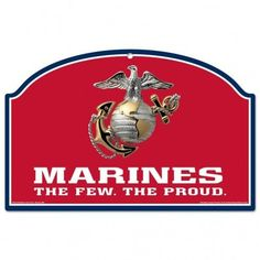 US Marines Red 11x17 Wood Sign