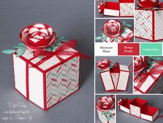 "Stampin'Up! - Boîte Cube Surprise ""Bigz Originals Fleur en spirale"""
