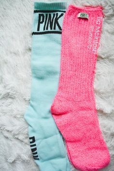 I have a quite a few socks from PINK, but want more! Pink Love, Cute Pink, Vs Pink, Pretty In Pink, Pink Outfits, Cute Outfits, Victoria Secret Outfits, Pink Socks, Aqua