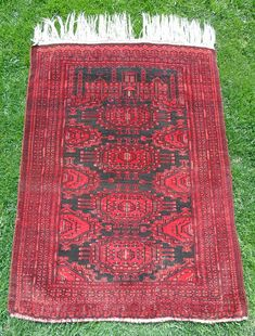 Bohemian Area Rug, Oriental Rug, Red Colored Rug, Prayer Rug, Oriental Prayer Rug, Vintage Area Rug, Home Decor Rug, Woolen Rug, 2'11x3'11