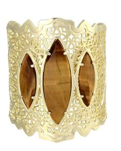 Chanya Cuff Bracelet in Tigers Eye - Kendra Scott Island Escape preview, in stores and online April 24, 2013 at 5pm CST.