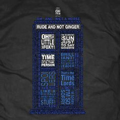 Want this shirt!!!!  Doctor+Who+10th+Doctor+Quotes+Shirt+by+BlackFeatherDesign+on+Etsy,+$25.00
