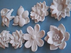 White Flower Bloom Wall Hanging Your Choice by CoastalCeramics, $25.00