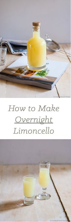 An easy guide on how to make limoncello at home quickly with only a few ingredients. Limoncello is ready in just a few hours!