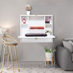 Desks For Small Spaces, Small Space Living, Furniture For Small Spaces, Multifunctional Furniture Small Spaces, Small Space Bedroom, Desk In Small Space, Space Saving Desk, Folding Desk, Wall Mounted Desk Folding