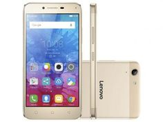 """Smartphone Lenovo Vibe K5 16GB Dourado Dual Chip - 4G Câm. 13MP + Selfie 5MP Tela 5"""" Proc. Octa Core"""