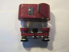 Antikes Opernglas im Futteral Leder Rot,Theastar Rathenow ca.1930+/-,sehr guter Zustand von AbrahamsTroedelShop auf Etsy