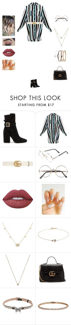 """Samuel - sixteen"" by kyndraxsvt ❤ liked on Polyvore featuring Vince Camuto, Gucci, Sunday Somewhere, Lime Crime, Annoushka, Shaun Leane and Cartier"