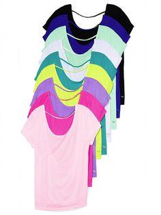 PINK Low-back Tee #VictoriasSecret http://www.victoriassecret.com/pink/tops/low-back-tee-pink?ProductID=105023=OLS?cm_mmc=pinterest-_-product-_-x-_-x