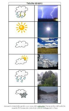 ' Game or if doubled, Memory Game. Any Language Preschool Printables, Preschool Worksheets, Preschool Learning, Learning Activities, Preschool Activities, Teaching Weather, Preschool Weather, Science For Kids, Science And Nature